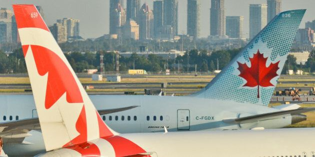 A view of Air Canada planes at Toronto Pearson International Airport. On Wednesday, 20 July 2016, in...