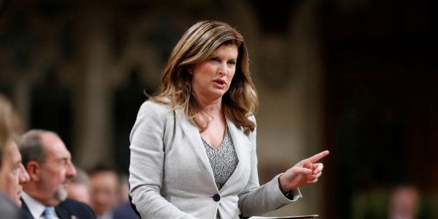 Interim Conservative Leader Rona Ambrose speaks during Question Period in the House of Commons on Parliament...