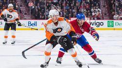 Le Canadien s'incline contre les Flyers à
