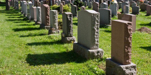 Gravestones in Montreal