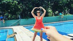 Le fun de l'été? S'habiller avec des robes en melon