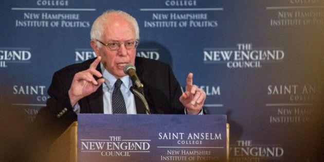 MANCHESTER, NH - FEBRUARY 05: Democratic presidential candidate Sen. Bernie Sanders (D-VT) speaks at...