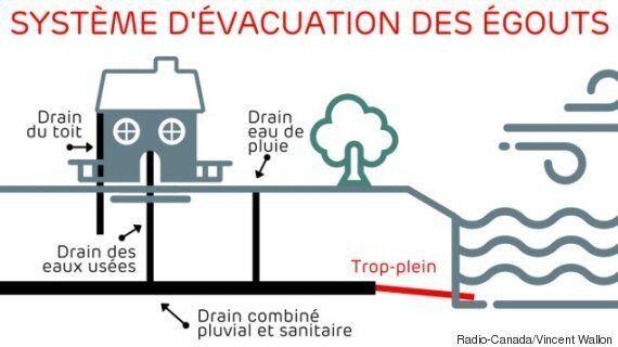 Des milliards de litres d'eaux d'égout déversés dans les Grands