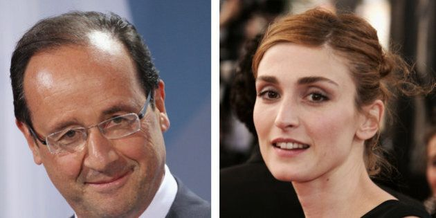 (FILE PHOTO) In this composite image a comparison has been made between Francois Hollande (L) and Julie...