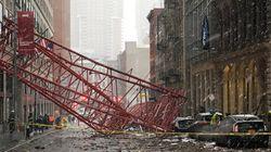 La chute d'une grue fait au moins un mort à New York