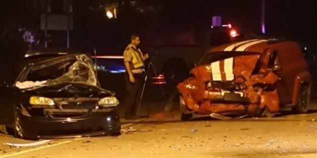 Collision entre 2 véhicules à Upton, en Montérégie: un mort et deux