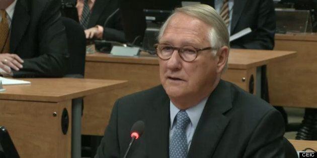 Gérald Tremblay à la barre des témoins au procès Faubourg