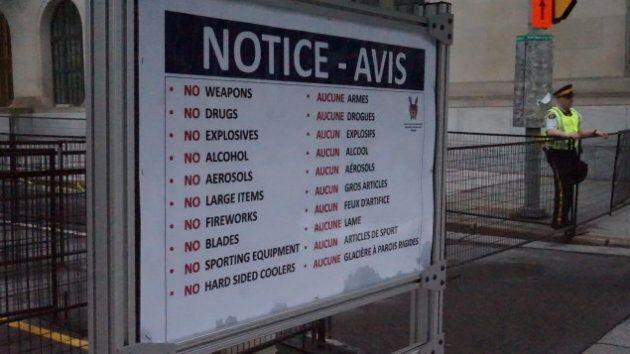 Les festivaliers devront suivre quelques consignes avant d'avoir accès à la colline du Parlement.