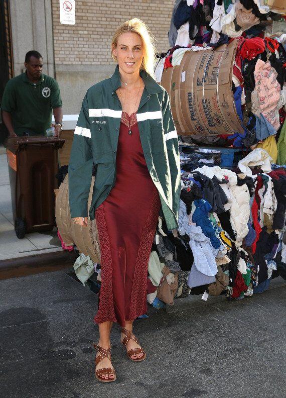 Heron Preston rend hommage aux éboueurs à la Semaine de mode de New