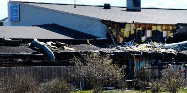 Parts of the Imam Ali Mosque in Jarfalla north of Stockholm, Sweden has been destroyed in a fire during...