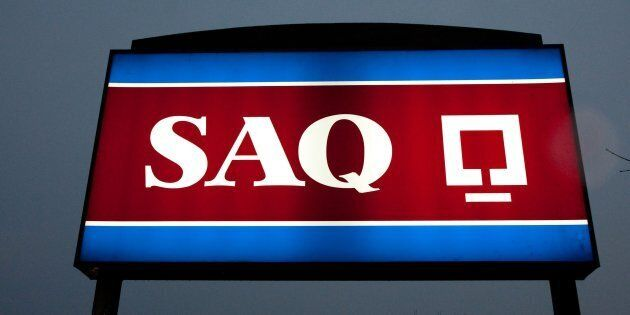 SAQ store sign. The Canadian Press Images-Mario Beauregard.