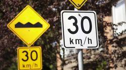 Maximum 40 km/h (et même 30 km/h) presque partout à