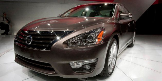 The Nissan Motor Co. Altima vehicle is unveiled during a news conference at the New York International...