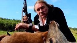 Depardieu joue au chasseur dans cette