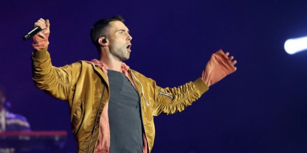 US Rock band Maroon 5 lead singer Adam Levine performs at Rock in Rio Lisboa 2016 music festival in Lisbon, Portugal on May 28, 2016. ( Photo by Pedro Fiúza/NurPhoto via Getty Images)