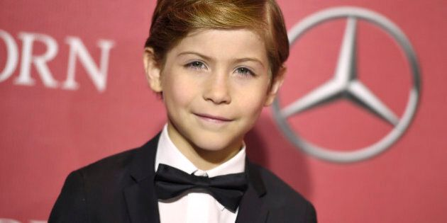 FILE - In this Jan. 2, 2015 file photo, actor Jacob Tremblay arrives at the 27th annual Palm Springs...