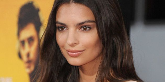 HOLLYWOOD, CA - AUGUST 20: Actress Emily Ratajkowski arrives at the Los Angeles Premiere 'We Are Your...