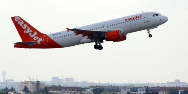 The EasyJet G-EZUA - Airbus A320-214 aircraft takes off at the Paris-Orly airport in Orly, France, August...