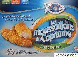 Rappel de languettes et de croquettes de poisson panées de marque «High Liner – Les moussaillons du