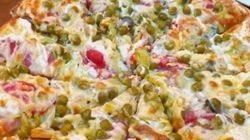 Cette pizza mayonnaise et petits pois a écœuré les