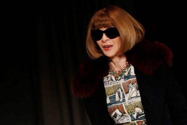 Anna Wintour à la Fashion Week de Londres en février 2017
