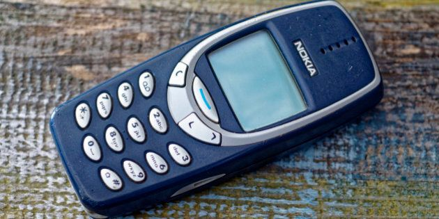 London, England - March 22, 2016: Nokia 3310 Mobile Phone, First Introduced in September 2000, It was...
