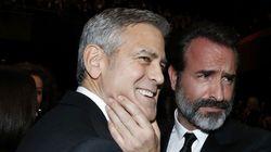 George Clooney et Jean Dujardin forment un duo anti-Trump drôle et