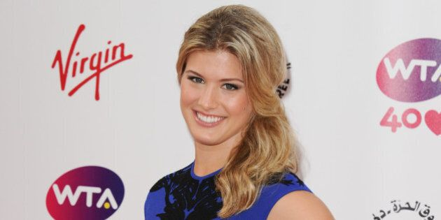 eugenie bouchard arriving for...