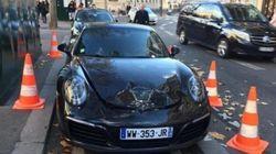Il gare mal sa Porsche, la police la fait