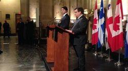 Énergie Est: Trudeau et Coderre font le point à