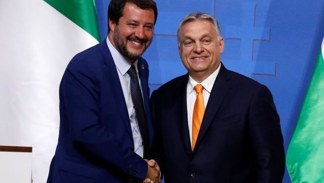 Salvini y Orban /