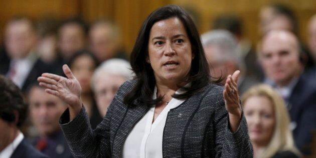 Canada's Justice Minister Jody Wilson-Raybould speaks during Question Period in the House of Commons...