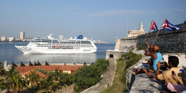 U.S. Carnival cruise ship Adonia arrives at the Havana bay, the first cruise liner to sail between the...