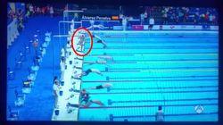 Un nageur fait sa minute de silence pour Barcelone, même si on lui avait dit