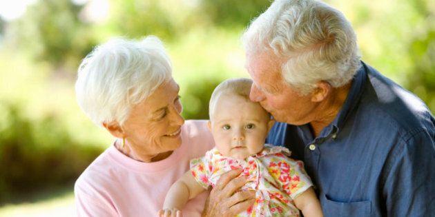 Senior couple holding