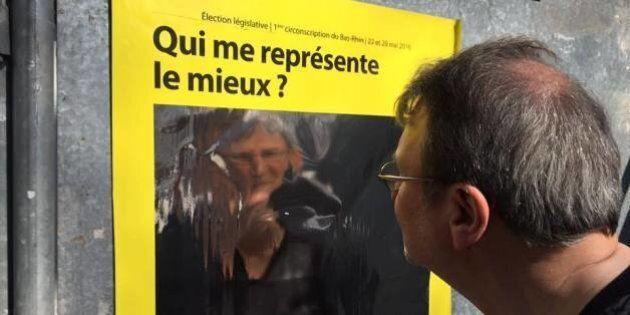 Une affiche électorale «miroir» qui veut être le reflet d'une nouvelle