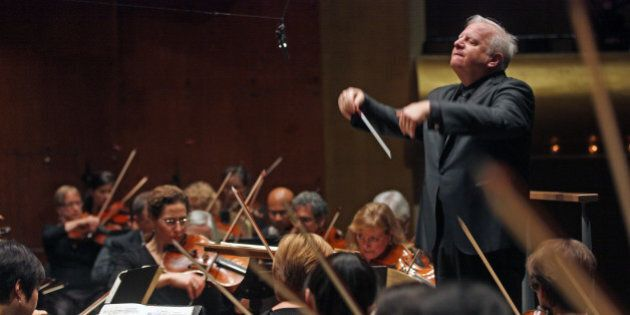 New York Philharmonic performing at Avery Fisher Hall on Thursday night, October 30, 2014.This image:Leonard...