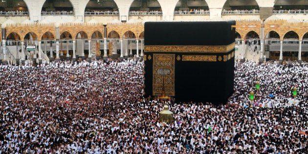 MECCA, SAUDI ARABIA - JUNE 16 : Muslim devotees circumambulate the Kaaba during the Muslim's holy fasting...