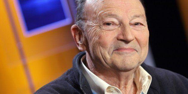 FRANCE - MAY 23: Michel Tournier at TV talk show ' Vol de nuit' (Night Flight ) hosted by Patrick Poivre...