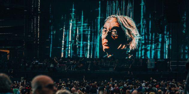 Le spectacle hommage à Richard Desjardins a réuni plusieurs artistes de la relève, le 6 juillet 2017. (ROGER PHOTO)