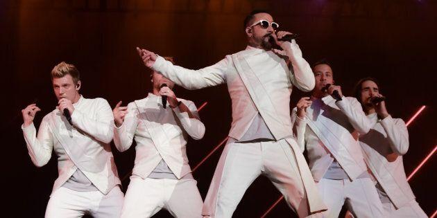 Les Backstreet Boys ont offert un condensé de leurs succès dans un spectacle de près de deux heures. (ROGER PHOTO)