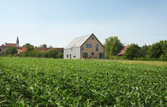 Cette superbe maison alsacienne au milieu des champs joue la carte de l'écologie
