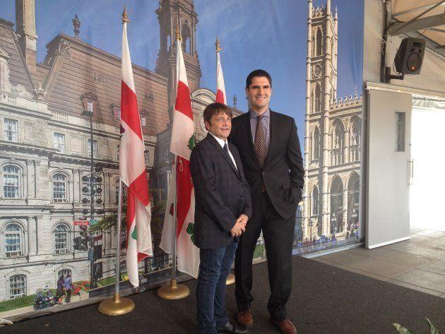 Le directeur de ZAP, André Boisvert, et le responsable de la ville intelligente au comité exécutif, Harout