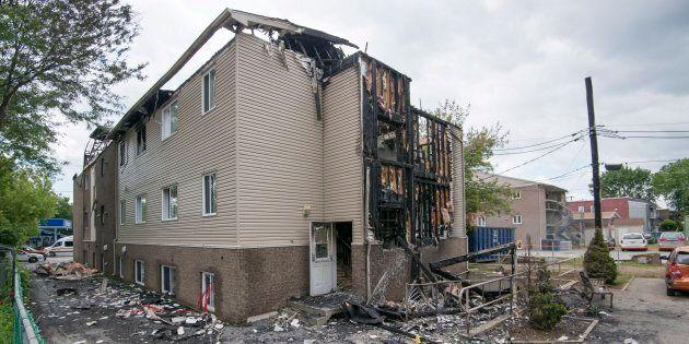 Incendie suspect à Terrebonne: les aînés devraient avoir été relogés sous