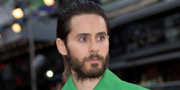 FILE - In this Aug. 3, 2016 file photo, actor Jared Leto poses for photographers at the European Premiere...