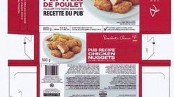 Bactérie Salmonella: rappel de pépites de poulet le Choix du