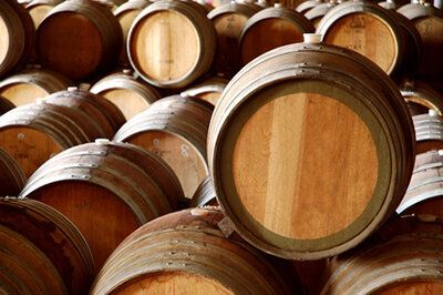 31522658 - winery barrels in wine cellar