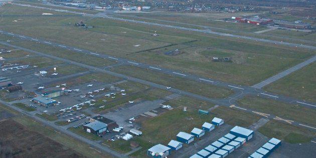 Vue aérienne de l'aéroport de