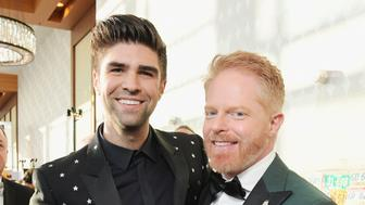 LOS ANGELES, CA - MARCH 30: Justin Mikita (L) and Jesse Tyler Ferguson attend The Human Rights Campaign 2019 Los Angeles Gala Dinner at JW Marriott Los Angeles at L.A. LIVE on March 30, 2019 in Los Angeles, California.  (Photo by Charley Gallay/Getty Images for The Human Rights Campaign  )