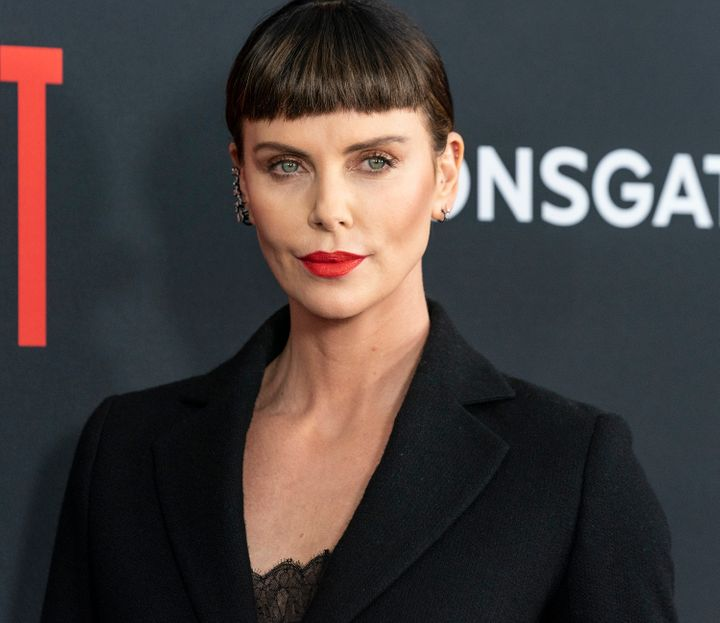 "Charlize Theron attends the premiere of ""Long Shot"" on April 30."